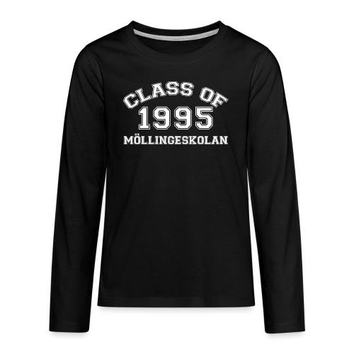 Class95Vit - Långärmad premium T-shirt tonåring