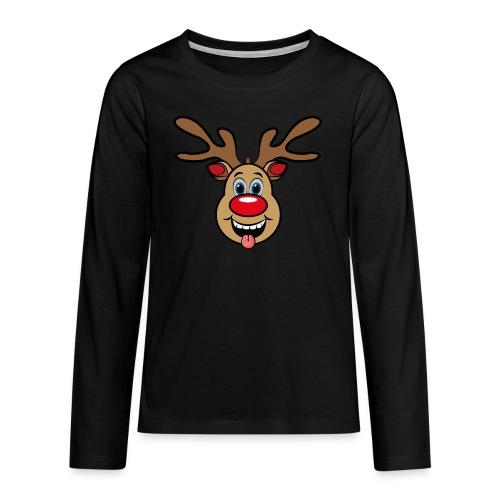 UGLY XMAS - Reindeer Rudi - Teenager Premium Langarmshirt