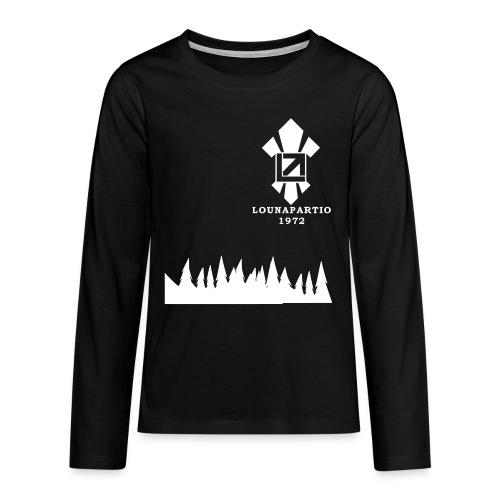louvaatelogo - Teinien premium pitkähihainen t-paita