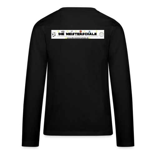 Die Meisterschale Logo Banner Werbung jpg - Teenager Premium Langarmshirt