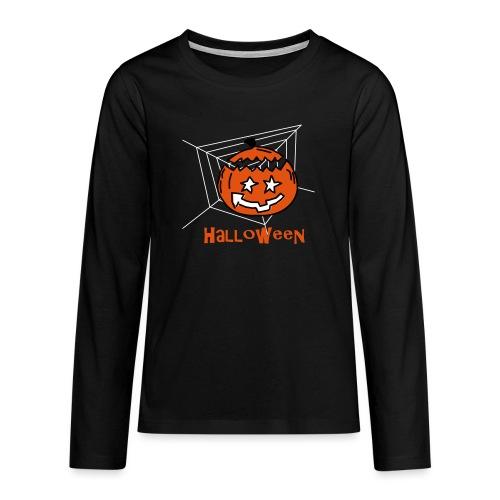 Halloween Kürbis 0PD37 - Teenager Premium Langarmshirt