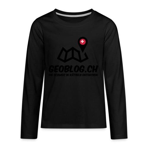 Logo+Schriftzug-hoch - Teenager Premium Langarmshirt