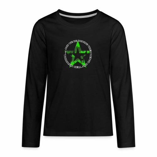 ra star slogan slime png - Teenager Premium Langarmshirt