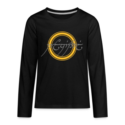 Tolkiendil en tengwar (écusson & dos) - T-shirt manches longues Premium Ado