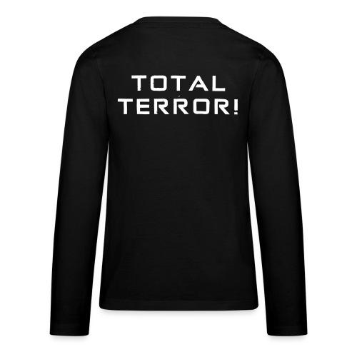 White Negant logo + TOTAL TERROR! - Teenager premium T-shirt med lange ærmer