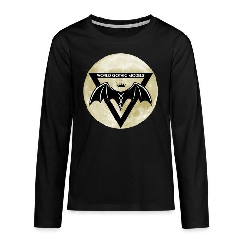 WGM Logo + Different is Beautiful   2 Sided Design - Teenagers' Premium Longsleeve Shirt