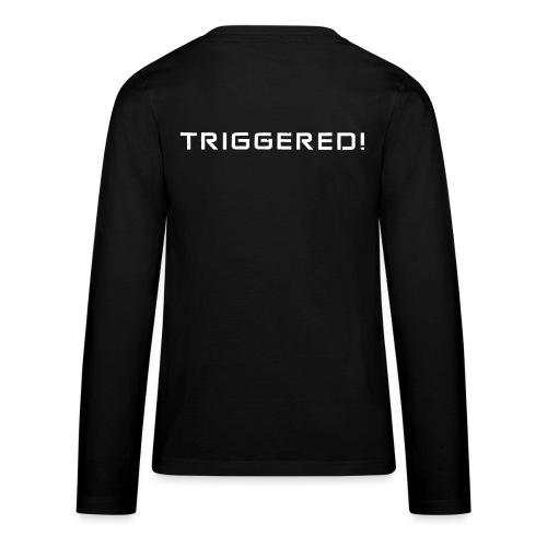 White Negant logo + TRIGGERED! - Teenager premium T-shirt med lange ærmer