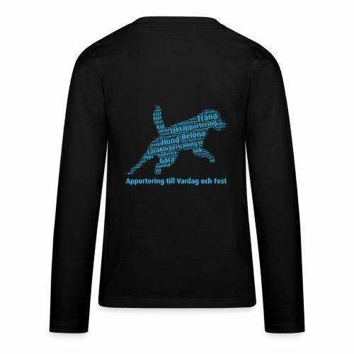 Apportering till vardag och fest wordcloud blått - Långärmad premium T-shirt tonåring
