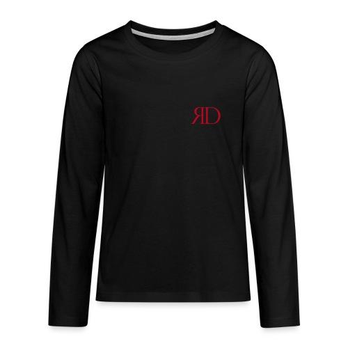 RD_Brust_rot - Teenager Premium Langarmshirt