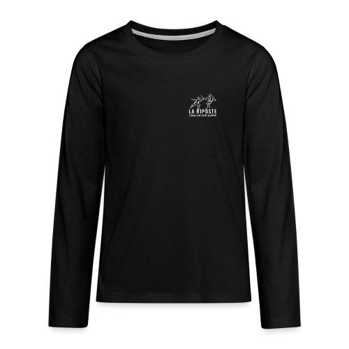 La Riposte Blanc - T-shirt manches longues Premium Ado