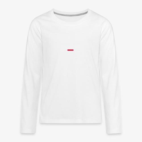 deplogo1neg red - Premium langermet T-skjorte for tenåringer