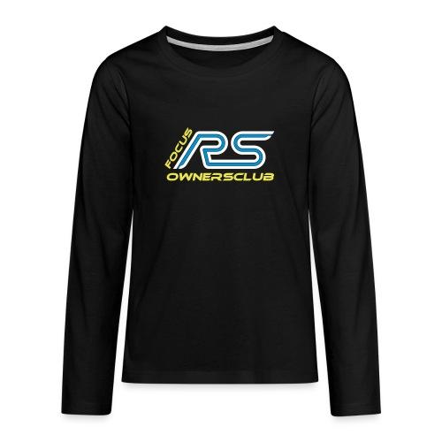 logo focus rs ownersclub shirt cmyk - Teenager Premium Langarmshirt