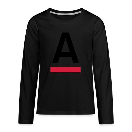 Alliansfritt Sverige A logo 2013 Färg - Långärmad premium T-shirt tonåring