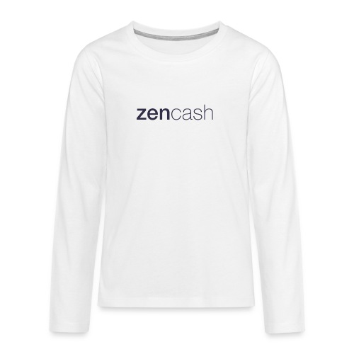 ZenCash CMYK_Horiz - Full - Teenagers' Premium Longsleeve Shirt