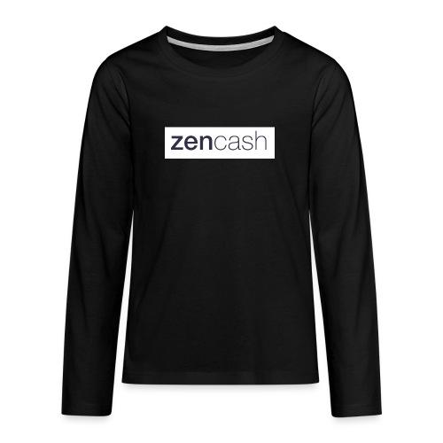 ZenCash CMYK_Horiz - Full - Teenagers' Premium Longsleeve Shirt