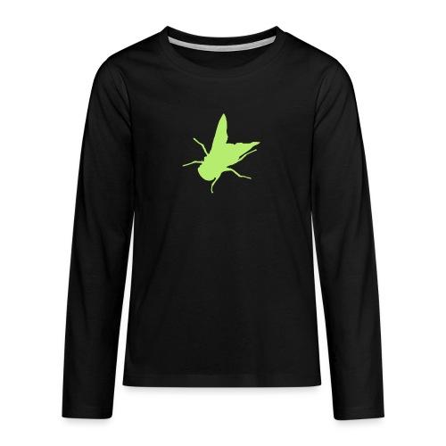 fliege - Teenager Premium Langarmshirt