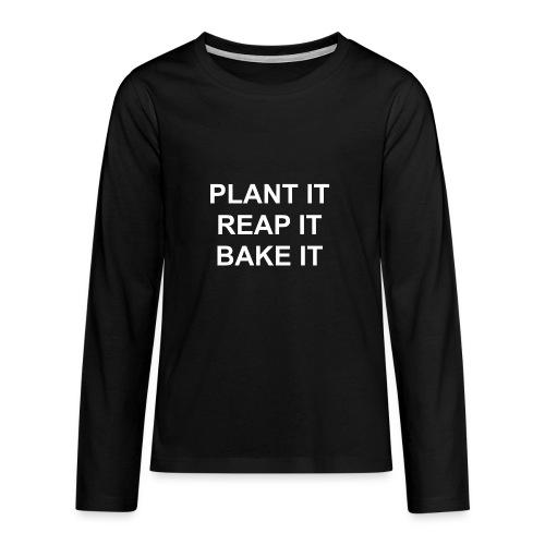 plantitreapitbakeit_white - Teenager Premium Langarmshirt
