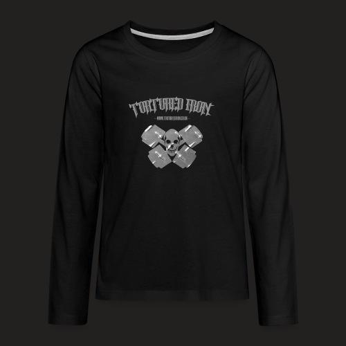 skull - Teenagers' Premium Longsleeve Shirt
