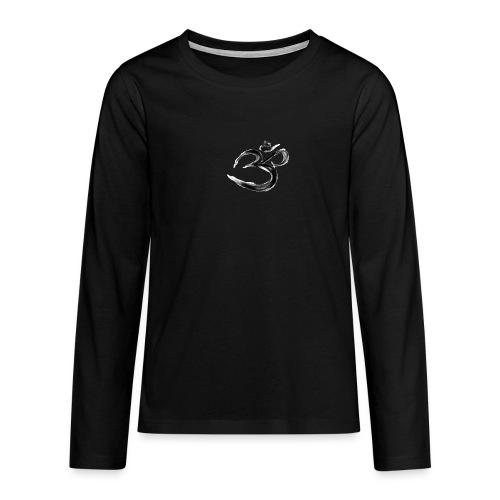 Black OM - Långärmad premium T-shirt tonåring