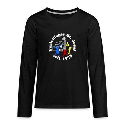 Logo Gif weiss farbig 120dpi 2000px - Teenager Premium Langarmshirt