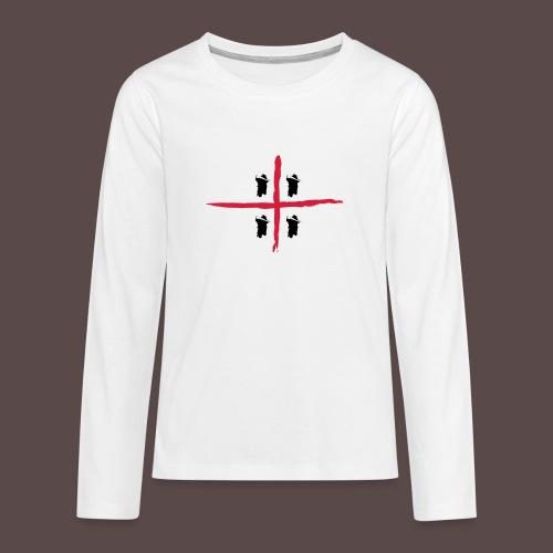 Sardegna Bendata, 4 Mori orizzontale - Maglietta Premium a manica lunga per teenager