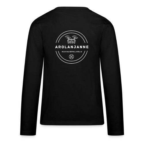 Janne Arola valkoinen - kuva takana - Teinien premium pitkähihainen t-paita