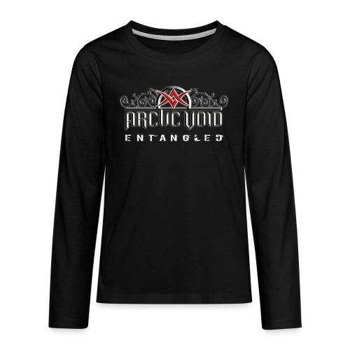 ArcticVoid loggo vitglow text png - Långärmad premium T-shirt tonåring