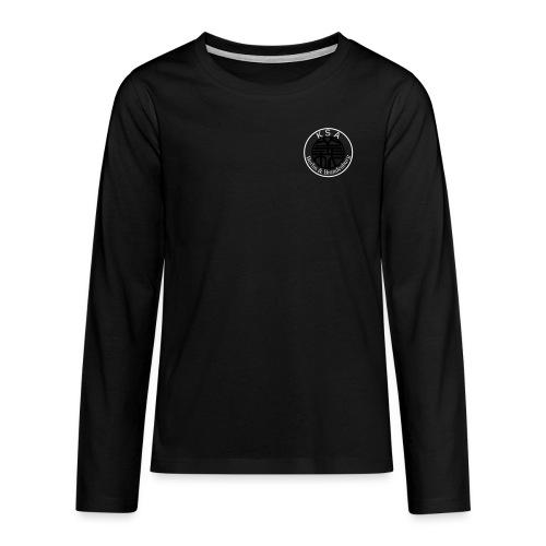 Schrift_hoch_groß - Teenager Premium Langarmshirt