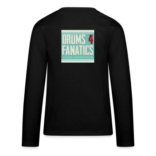 Drums for fanatics 4kant jpg - Teenager Premium shirt met lange mouwen
