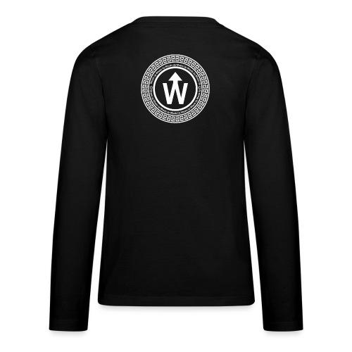 wit logo transparante achtergrond - Teenager Premium shirt met lange mouwen