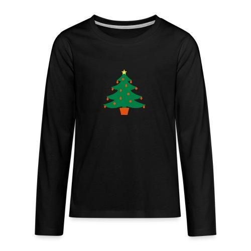Christmas Tree - Teenagers' Premium Longsleeve Shirt
