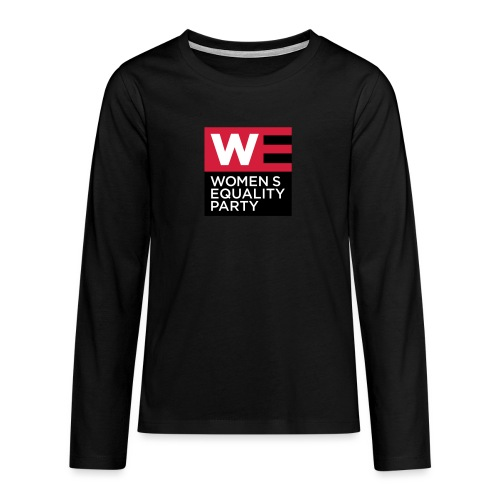 WE_LOGO_RED_CMYK - Teenagers' Premium Longsleeve Shirt