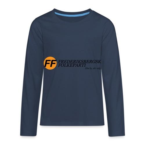Din by, fit valg - Børnekollektion - Teenager premium T-shirt med lange ærmer