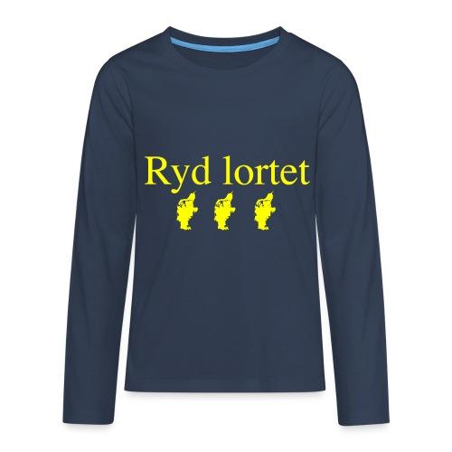 Ryd lortet - Børnekollektion - Teenager premium T-shirt med lange ærmer