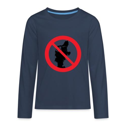 Jylland forbudt - Børnekollektion - Teenager premium T-shirt med lange ærmer