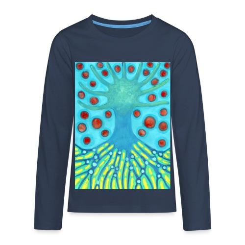 Drzewo I Planety - Koszulka Premium z długim rękawem dla nastolatków