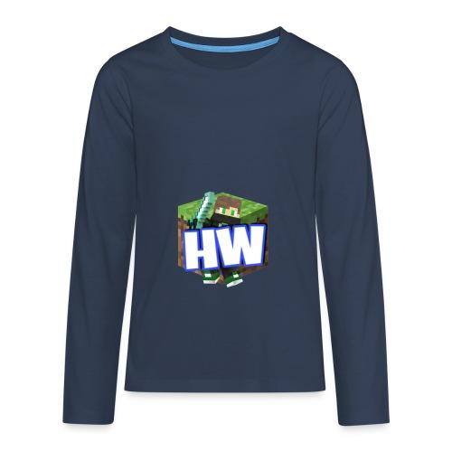 HouseWorld Minecraft Server - Teenager Premium Langarmshirt