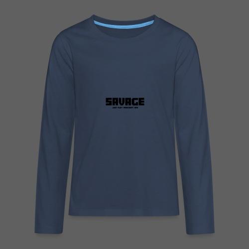 SAVAGE GAMER T-Shirt (kinderen) - Teenager Premium shirt met lange mouwen
