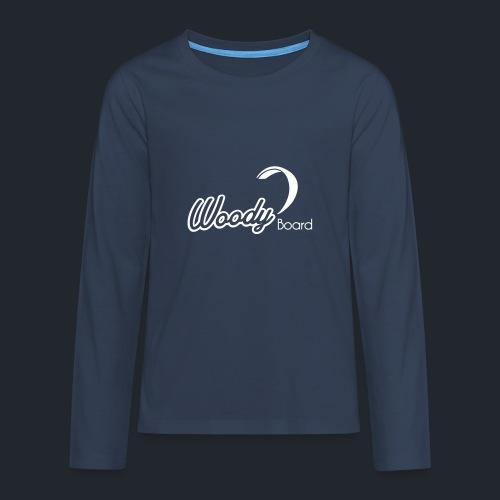 Logo Woodyboard Blanc - T-shirt manches longues Premium Ado