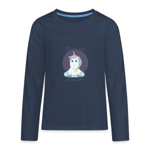 J'peux pas j'ai licorne - T-shirt manches longues Premium Ado