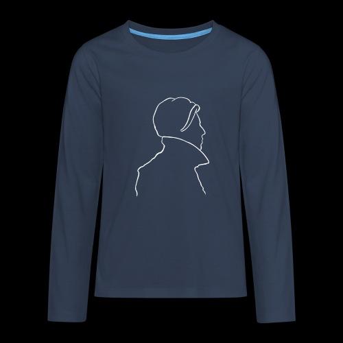 David Bowie Low (white) - Teenagers' Premium Longsleeve Shirt