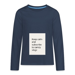 Keep calm - Teenagers' Premium Longsleeve Shirt