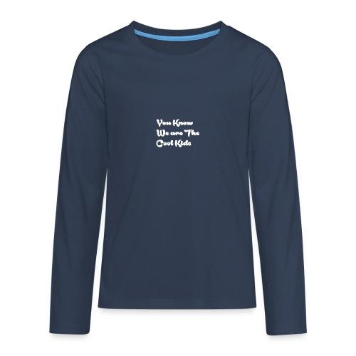 Cool kids - Långärmad premium-T-shirt tonåring