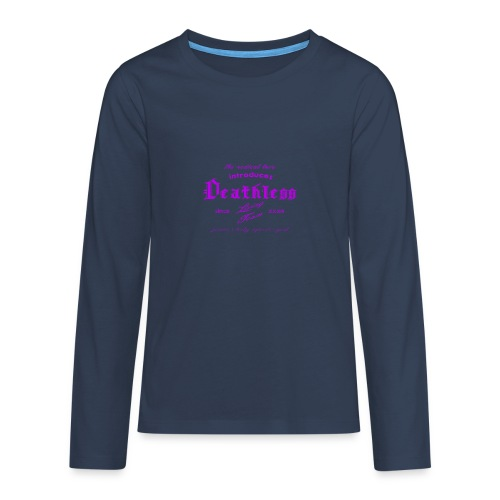 deathless living team violet - Teenager Premium Langarmshirt