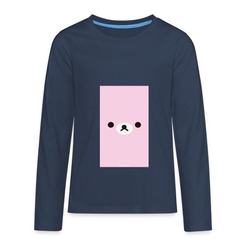 Cute Pink Bear Merch - Teenagers' Premium Longsleeve Shirt