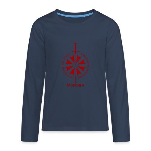 T shirt front M - Teenager Premium Langarmshirt