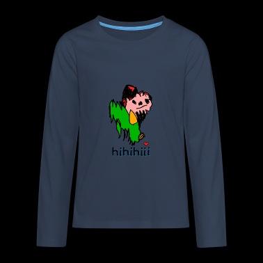 zielona karzeł hi - Koszulka Premium z długim rękawem dla nastolatków