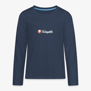 PoweredByAmigaOS white - Teenagers' Premium Longsleeve Shirt