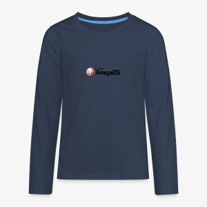 PoweredByAmigaOS Black - Teenagers' Premium Longsleeve Shirt
