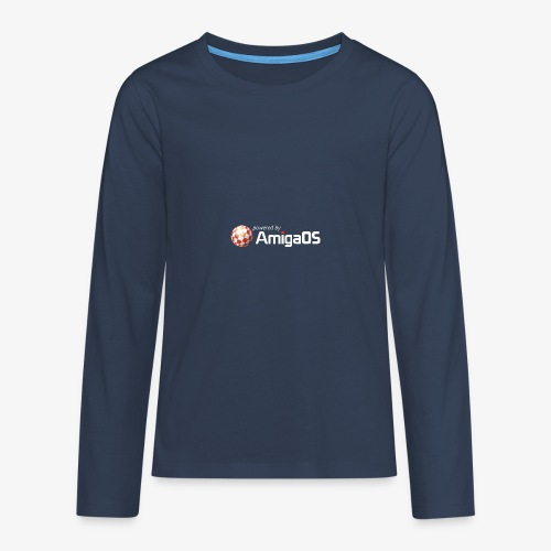 PoweredByAmigaOS white - Teenagers' Premium Longsleeve Shirt
